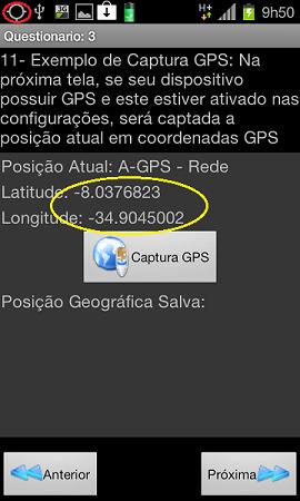 Figura 1 -A-GPS, GPS real ainda não respondeu