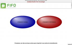 Tela Touch Screen Impressão Remota