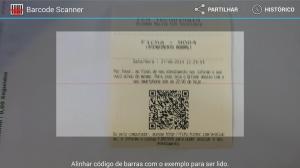 Visualização da captura do QrdCode no aplicativo de leitura