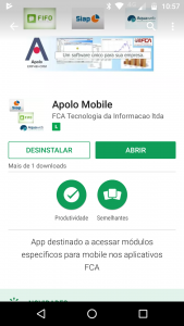Software Apolo Mobile no Google Play