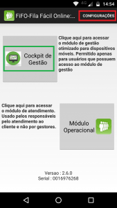 Tela incial do App
