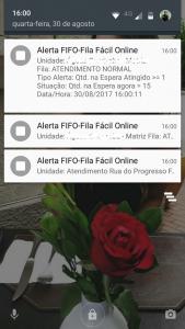 Exemplo de Alerta em Celular
