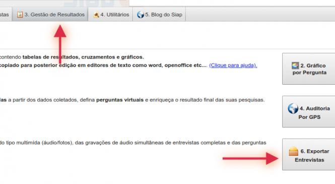 Processo de exportação/leitura de arquivos exportados pelo Siap